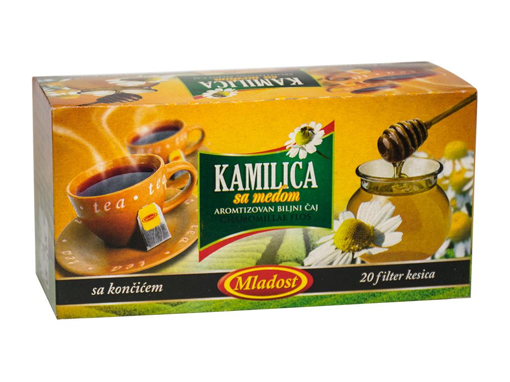 Kamilica sa medom filter čaj sa končićem