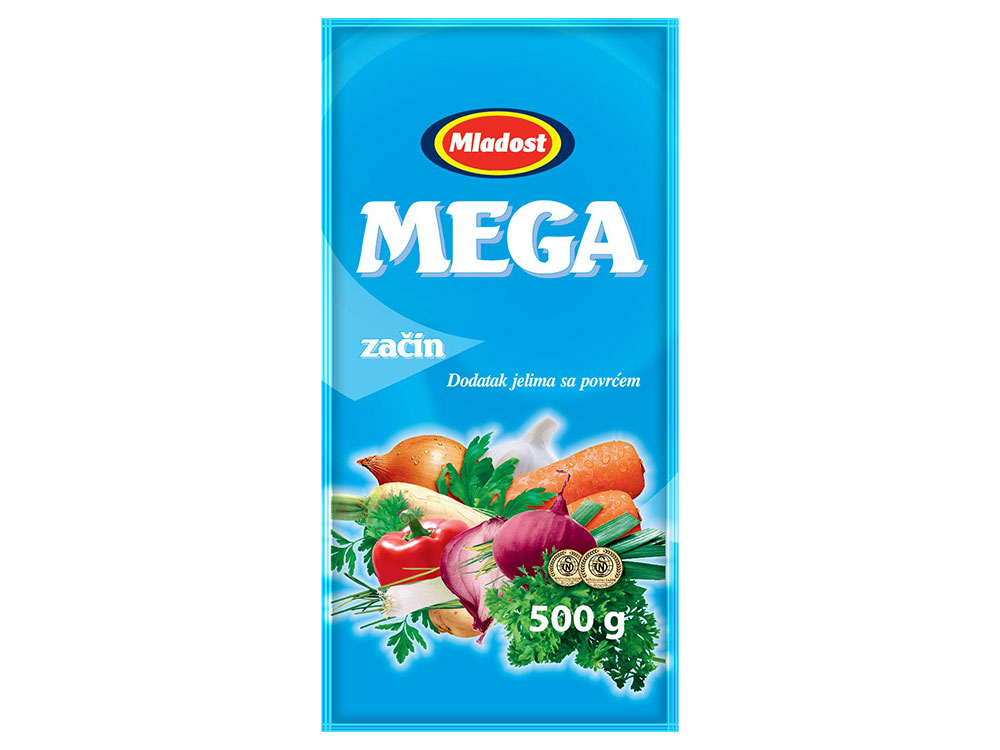 Mega začin – dodatak jelu sa povrćem, kesica 500g