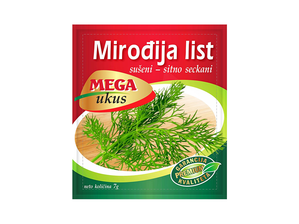 Mega ukus Mirođija list (Anethum graveolens)