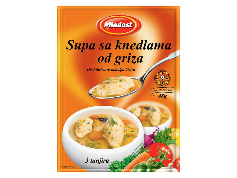 Chicken clear soup with dumplings